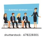 business seminar  vector... | Shutterstock .eps vector #678228301