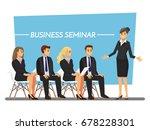 business seminar  vector... | Shutterstock .eps vector #678228301