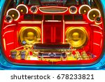 a powerful audio system with... | Shutterstock . vector #678233821