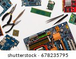 electronics repair and upgrade... | Shutterstock . vector #678235795