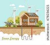 bio green energy poster. eco...   Shutterstock .eps vector #678236221