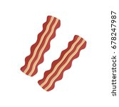 two slices of bacon graphic ... | Shutterstock .eps vector #678247987