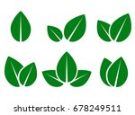 abstract green leaf eco icons... | Shutterstock .eps vector #678249511