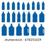 set of plastic water bottle...   Shutterstock . vector #678251029