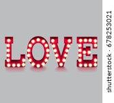 love word with lightbulbs... | Shutterstock .eps vector #678253021