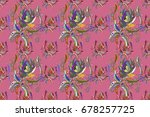 design gift wrapping paper ...   Shutterstock . vector #678257725