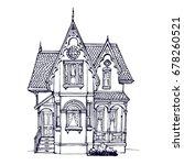 victorian cute little house... | Shutterstock .eps vector #678260521