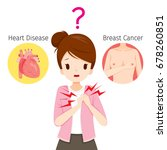 woman doubts about her chest...   Shutterstock .eps vector #678260851
