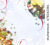 holiday background  greeting... | Shutterstock . vector #678262381
