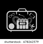 x ray inspection   suitcase...   Shutterstock .eps vector #678262579