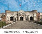 porta nuova  medieval gate to... | Shutterstock . vector #678263224