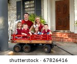 Family Of Six Smile For A...