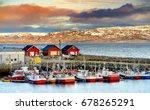 Small photo of Midnight sun colors near Vardo, Norway