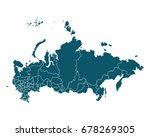 map of russia   high detailed... | Shutterstock .eps vector #678269305