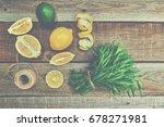 Top View Citrus Colorful Fruit...