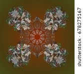 zentangle elegant snow flake.... | Shutterstock .eps vector #678275167
