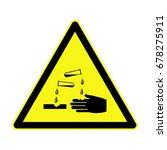 corrosive sign   Shutterstock .eps vector #678275911
