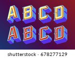 3d vintage letters with... | Shutterstock .eps vector #678277129
