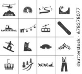 set of icons for ski and winter ... | Shutterstock .eps vector #678278077