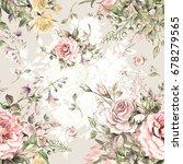 watercolor seamless pattern... | Shutterstock . vector #678279565