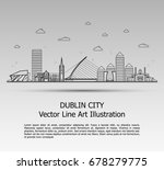 line art vector illustration of ... | Shutterstock .eps vector #678279775
