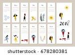 creative calendar 2018  concept ... | Shutterstock .eps vector #678280381