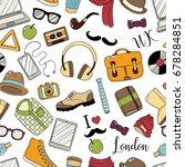 seamless background  pattern ... | Shutterstock .eps vector #678284851