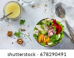summer lettuce with salad... | Shutterstock . vector #678290491