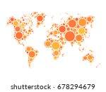 vector world map mosaic of... | Shutterstock .eps vector #678294679