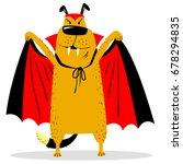 halloween dog character in... | Shutterstock .eps vector #678294835