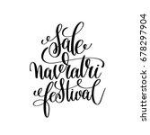 sale navratri festival hand... | Shutterstock . vector #678297904