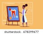 female african american doctor... | Shutterstock .eps vector #678299677