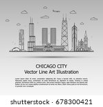 line art vector illustration of ... | Shutterstock .eps vector #678300421