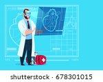 doctor cardiologist examining... | Shutterstock .eps vector #678301015
