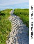 Sandy Path Cut Through Grass...