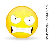 angry emoji. emotion of anger.... | Shutterstock .eps vector #678306271