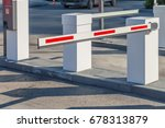 barrier in the parking lot | Shutterstock . vector #678313879
