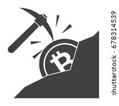 cryptocurrency mining concept... | Shutterstock .eps vector #678314539