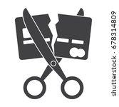 debt free concept with scissors ...   Shutterstock .eps vector #678314809