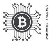 digital money icon for bitcoin  ... | Shutterstock .eps vector #678315079