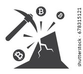 bitcoin mining concept with... | Shutterstock .eps vector #678315121