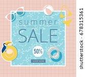 vector summer sale background... | Shutterstock .eps vector #678315361