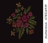 elegant bouquet with flowers ... | Shutterstock .eps vector #678316939