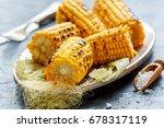 Dish With Sweet Corn Roasted O...
