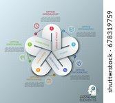 unusual infographic design...   Shutterstock .eps vector #678319759