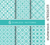 a pack of vintage pattern... | Shutterstock .eps vector #678326155