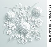 bouquet of decorative white... | Shutterstock .eps vector #678326431