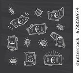 money vector set. hand drawn... | Shutterstock .eps vector #678326974