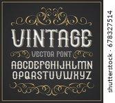 vector vintage label font.... | Shutterstock .eps vector #678327514