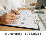 business woman working at... | Shutterstock . vector #678328255